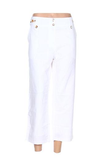 acbelle pantacourts femme de couleur blanc