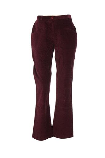 Pantalon casual violet CHRISMAS'S pour femme