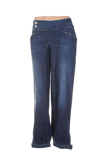 nikita jeans femme de couleur bleu