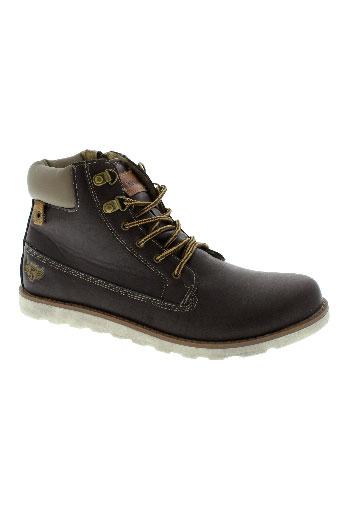 kaporal boots garcon de couleur marron