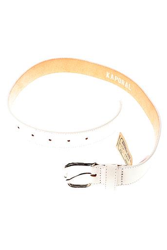 kaporal ceintures fille de couleur blanc