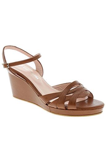 studio paloma chaussures femme de couleur marron