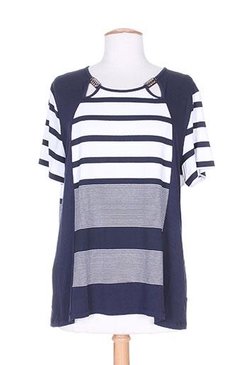 natural t-shirts femme de couleur bleu