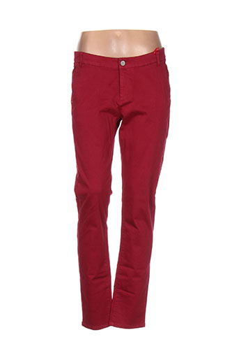 Pantalon casual rouge I.CODE (By IKKS) pour femme