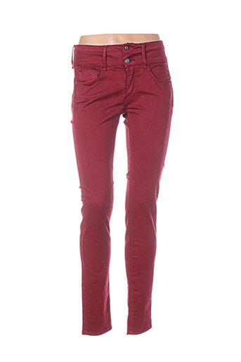 tiffosi pantalons femme de couleur rouge