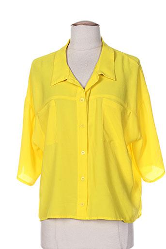 cristina gavioli chemises femme de couleur jaune