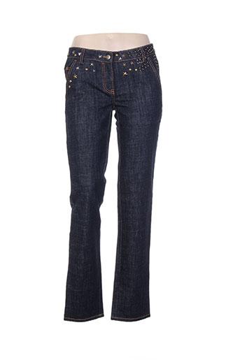 christian lacroix jeans femme de couleur bleu