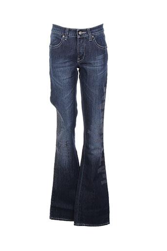 save the queen jeans femme de couleur bleu