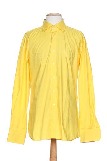 eterna chemises homme de couleur jaune