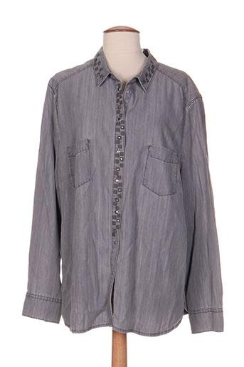basler chemises femme de couleur gris
