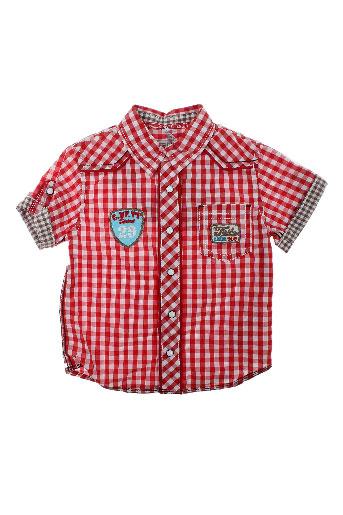 absorba chemises garçon de couleur rouge