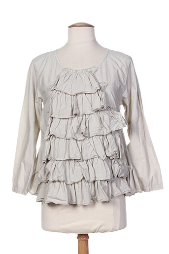 aurea vita chemises femme de couleur gris