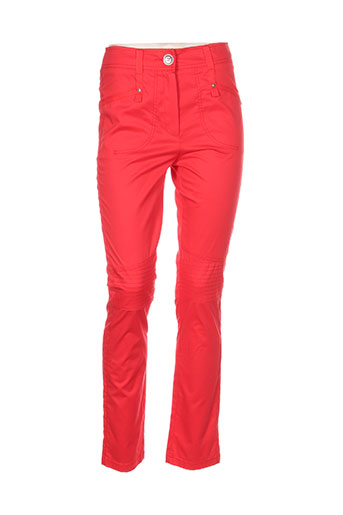 deca pantalons femme de couleur rouge