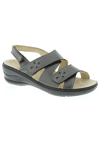 arima sandales et nu et pieds femme de couleur gris