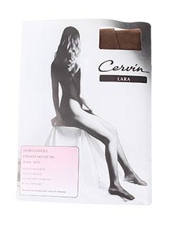 Bas et Collants CERVIN femme de couleur marron en soldes pas cher - Modz 21560669a42