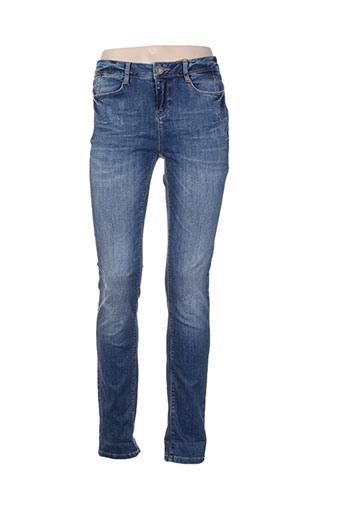 street one jeans femme de couleur bleu