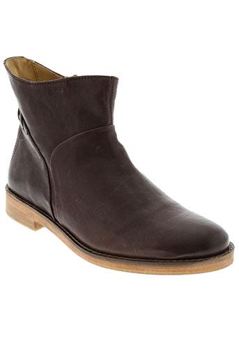 j et shoes boots femme de couleur marron