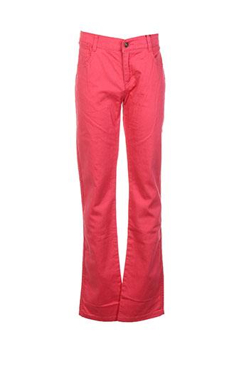 cyrillus pantalons garçon de couleur rouge