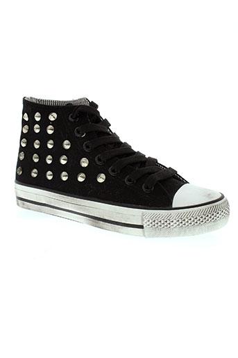 2 stars chaussures femme de couleur noir