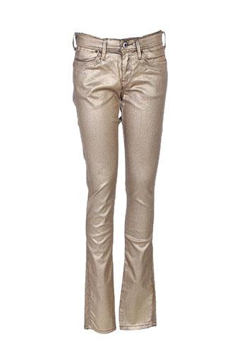 pepe jeans jeans fille de couleur beige