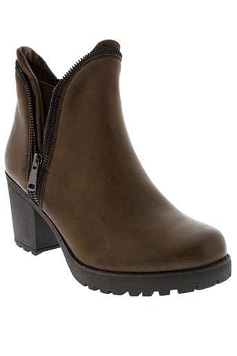 Bottines/Boots marron J&J PARIS pour femme