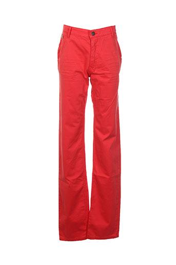 redskins pantalons garçon de couleur rouge