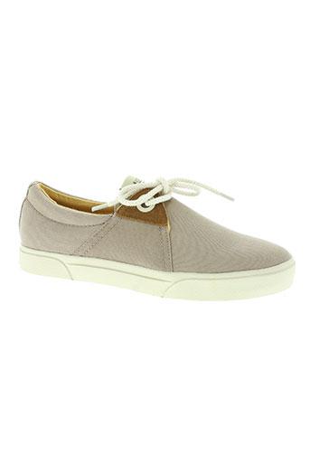 armistice chaussures homme de couleur beige