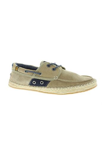 pepe jeans chaussures homme de couleur beige