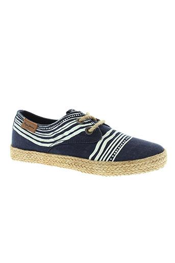 pepe jeans chaussures garçon de couleur bleu