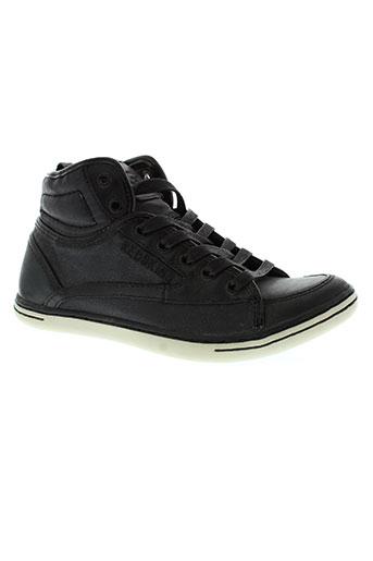 redskins chaussures garçon de couleur noir
