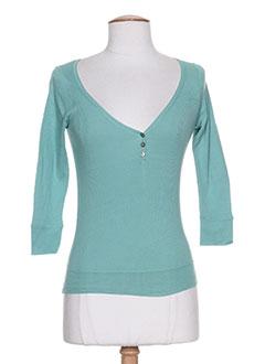 T-shirt manches longues vert DIABLESS pour femme