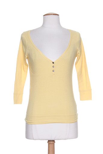 T-shirt manches longues jaune DIABLESS pour femme