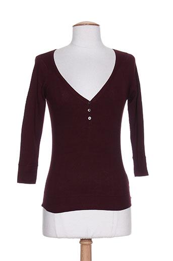 T-shirt manches longues rouge DIABLESS pour femme