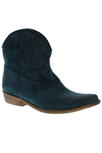 etik chaussures femme de couleur bleu