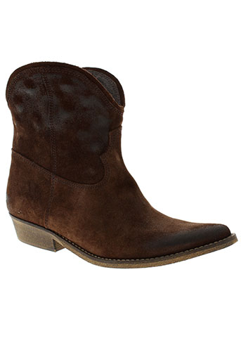 etik chaussures femme de couleur marron