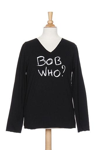 bob sinclar t-shirts garçon de couleur noir