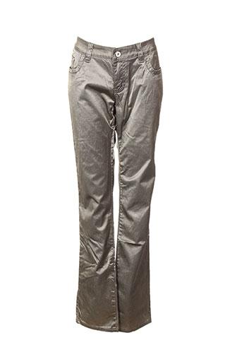 gold sk pantalons femme de couleur beige