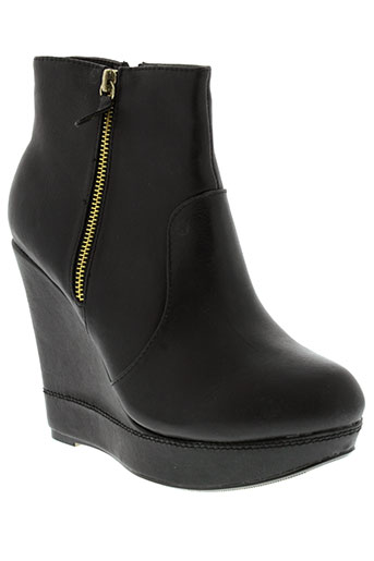 c'm paris chaussures femme de couleur noir