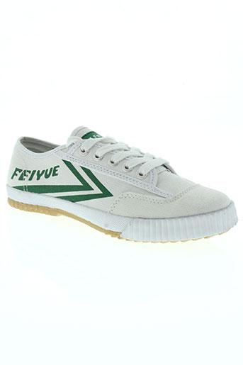feiyue chaussures fille de couleur blanc