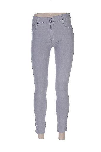 onado pantalons femme de couleur gris