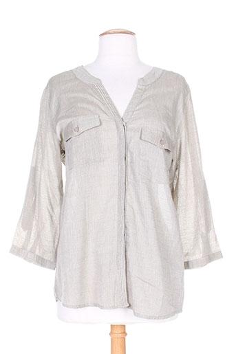 brandtex chemises femme de couleur gris