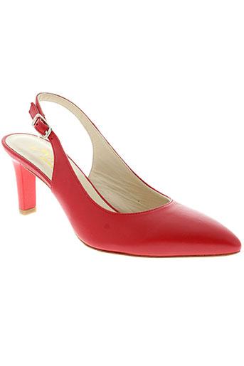 adrien chaussures femme de couleur rouge