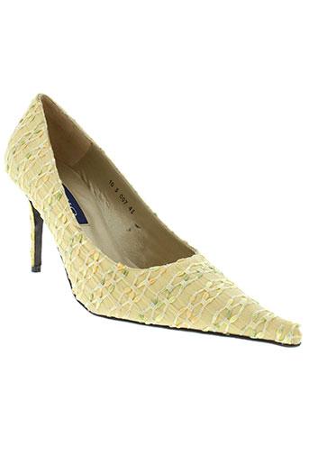lazio chaussures femme de couleur jaune