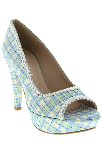 pepe castell chaussures femme de couleur bleu