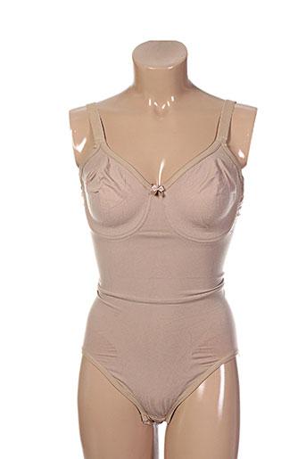 body wrap lingerie femme de couleur chair