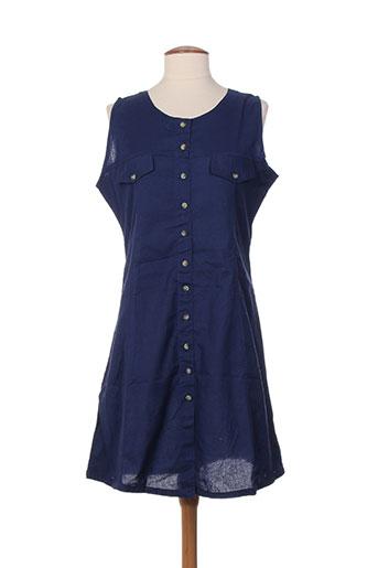 american city robes femme de couleur bleu