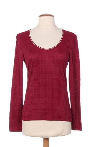 entracte t-shirts femme de couleur rouge