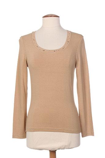 entracte t-shirts femme de couleur beige