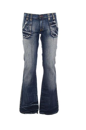 mac laury pantalons homme de couleur bleu