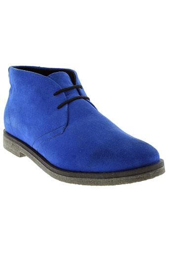 memphis chaussures femme de couleur bleu